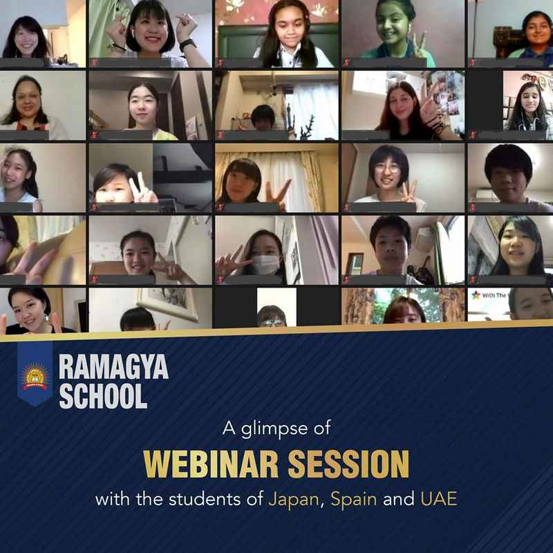 Webinar session with students of Japan, Spain and UAE