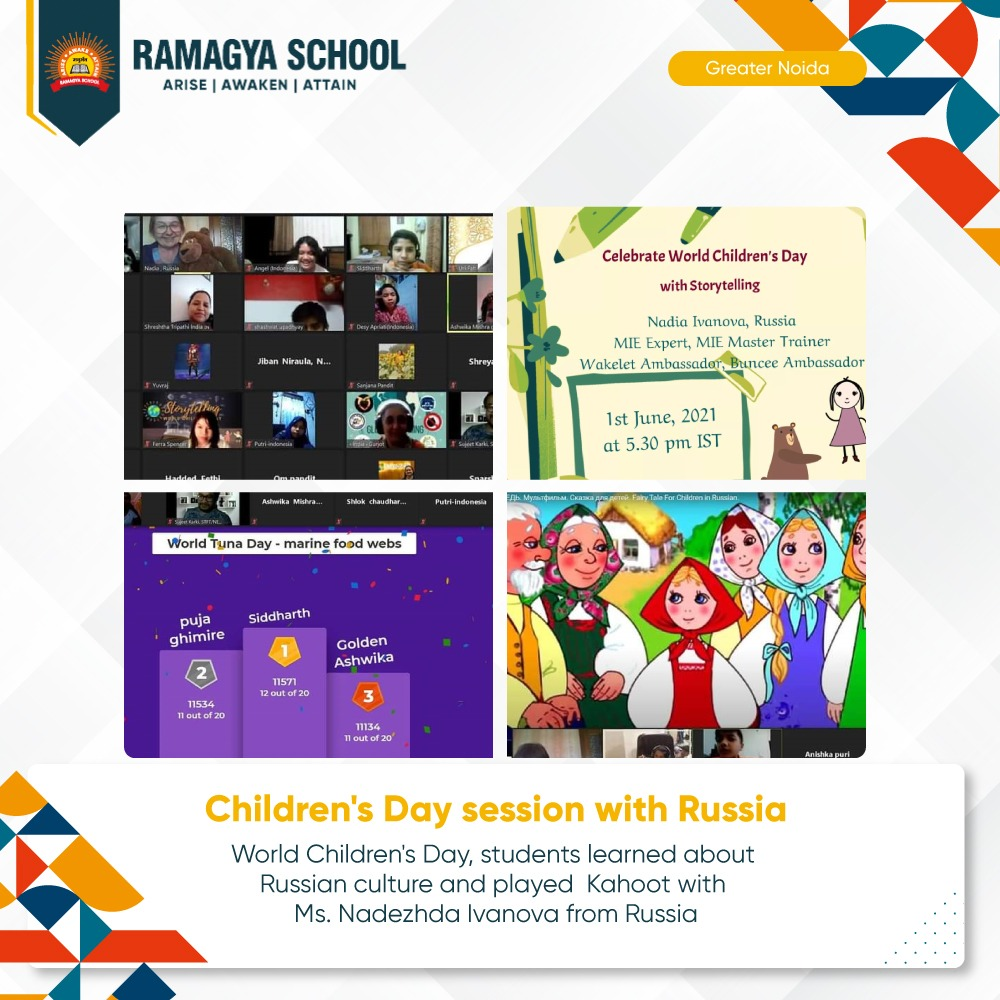 Children's Day session with Russia